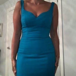 badgley mischka blue long dress 👗